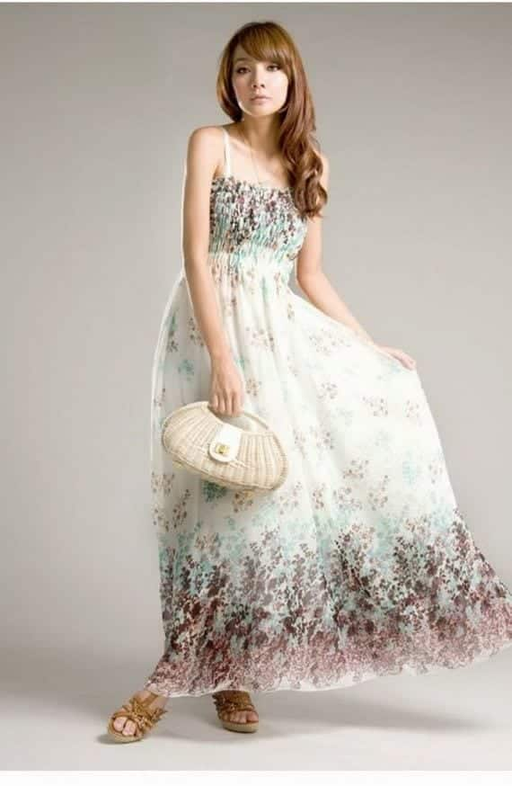 long-dress-Korean-Fashion-For-Girls-2012-Trends Korean Women Fashion - 18 Cute Korean Girl Clothing Styles