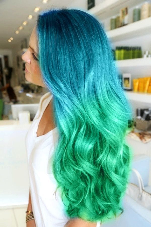 long-hairstyles-green-colors Latest Green Hairstyles-These 23 Shades of Green Hairs you Cant Resist