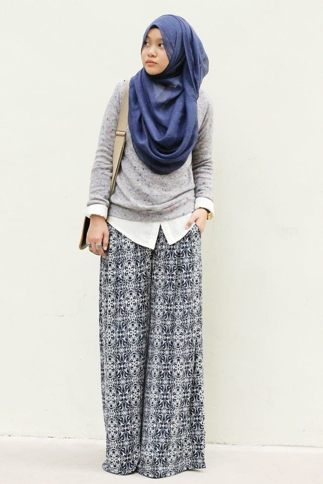 262a8bfb7db32331e2b1f21d2cd1d82a Hijab with Palazzo Pants-20 Ways to Wear Palazzo Pants Modestly