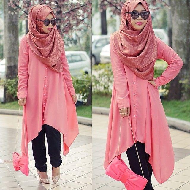 pink hijab styles17 ways to wear pink colour hijab