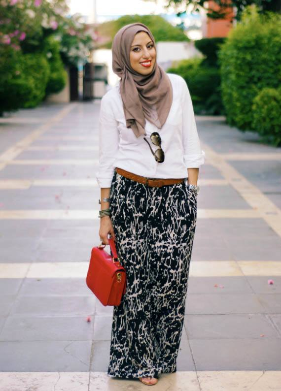 AbuDhabi Hijab with Palazzo Pants-20 Ways to Wear Palazzo Pants Modestly
