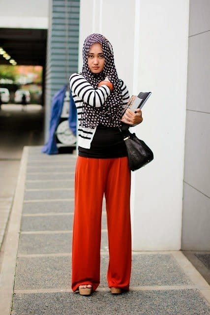 a Hijab with Palazzo Pants-20 Ways to Wear Palazzo Pants Modestly