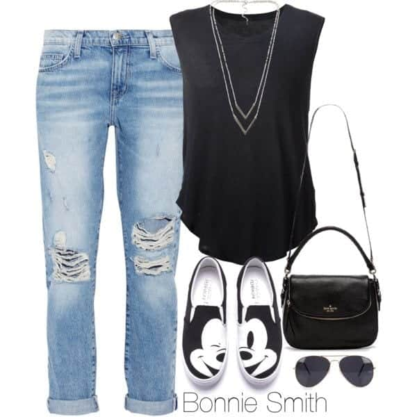 b Muscle Tee Outfits-20 Ways to Wear Muscle Tees for Girls Fashionably