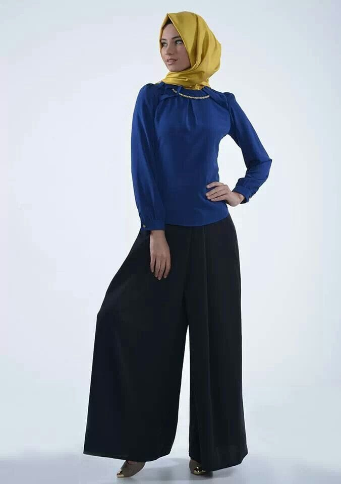 b85f8d3aa46a115955855650d90758c3 Hijab with Palazzo Pants-20 Ways to Wear Palazzo Pants Modestly
