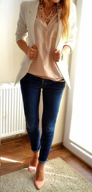 bl5 Women Blazer Outfits-20 Ways to Wear Blazer in Different Styles