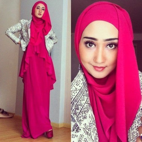 ed439f0d7b2dab7b29c92261989e1530 Pink Hijab Styles-17 Ways to Wear Pink Colour Hijab
