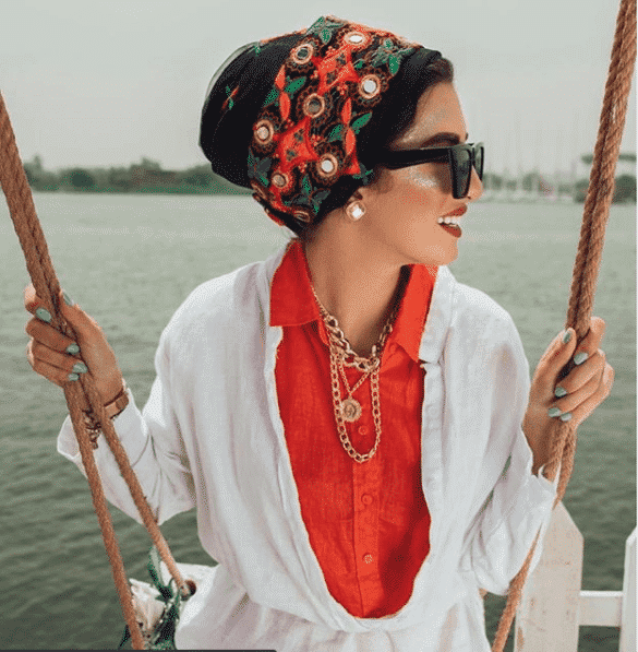 embroidered-and-mirror-work-hijab Latest Turban Hijab Styles-29 Ways to Wear Turban Hijab