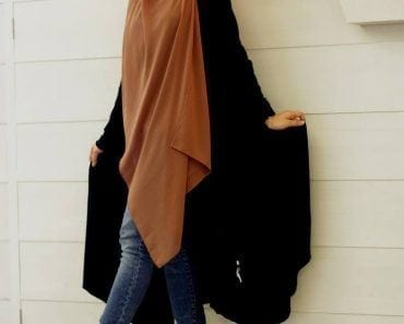 How to style abaya with jeans? (11)