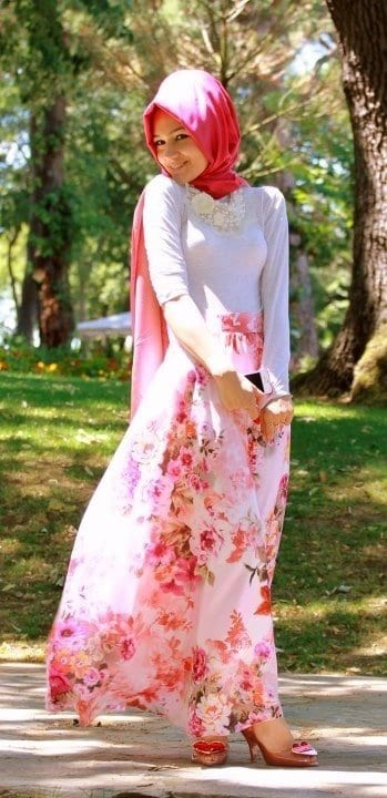 ff1b30ef4fc5fb0c61b09f49499fea4c Pink Hijab Styles-17 Ways to Wear Pink Colour Hijab