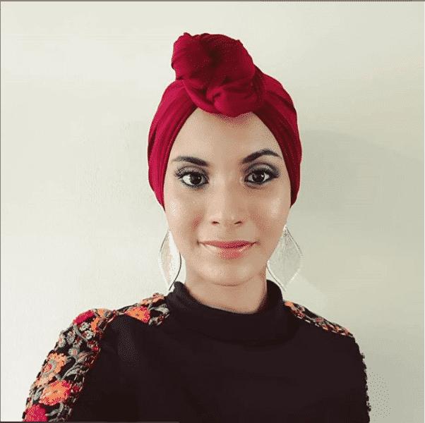 front-bun-hijab Latest Turban Hijab Styles-29 Ways to Wear Turban Hijab
