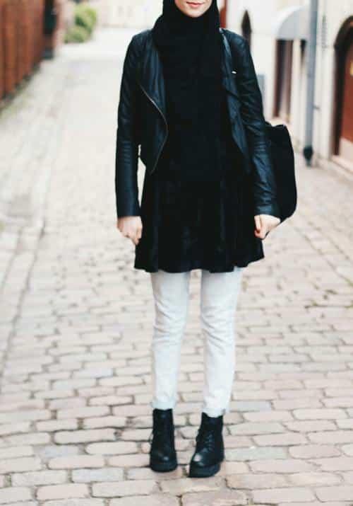 g15 Grunge Hijab Styles – 15 Best Grunge Hijab Looks This Season