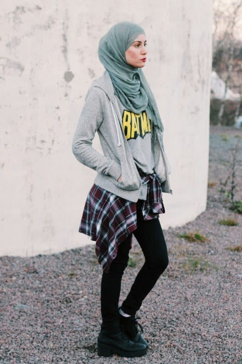 g7 Grunge Hijab Styles – 15 Best Grunge Hijab Looks This Season