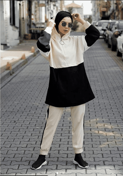 hijab-outfit-for-a-run Casual Hijab Outfits–33 Ways to Wear Hijab Casually