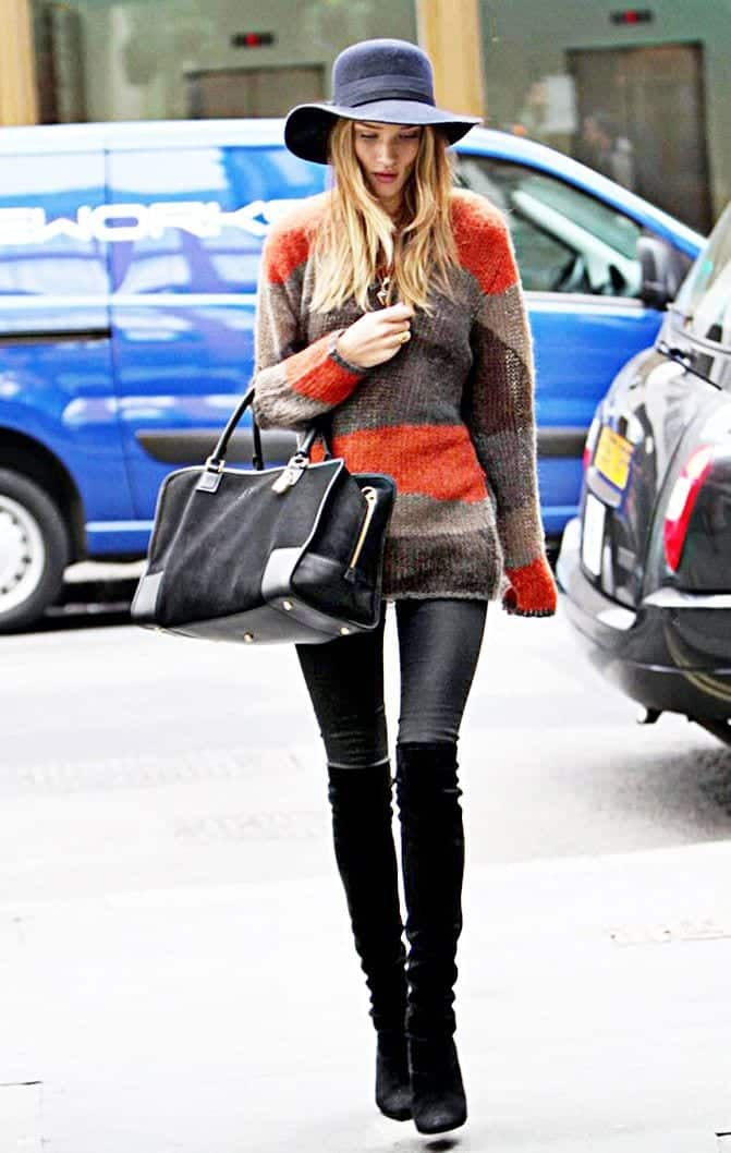 knee-length-boots 25 Best Shoes to Wear with Jeans for Different Looks