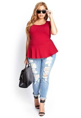 pb18-341x500 18 Plus size Women Boyfriend Jeans Outfits Combinations