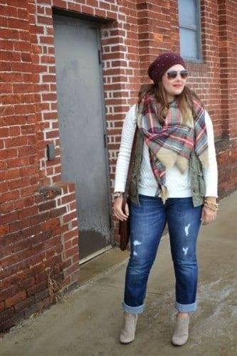 b76d1b78094d8 18 Plus size Women Boyfriend Jeans Outfits Combinations