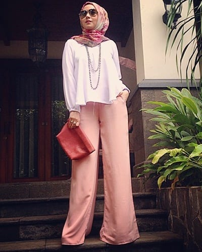 sarsof-1-biutifa_com_ Hijab with Palazzo Pants-20 Ways to Wear Palazzo Pants Modestly