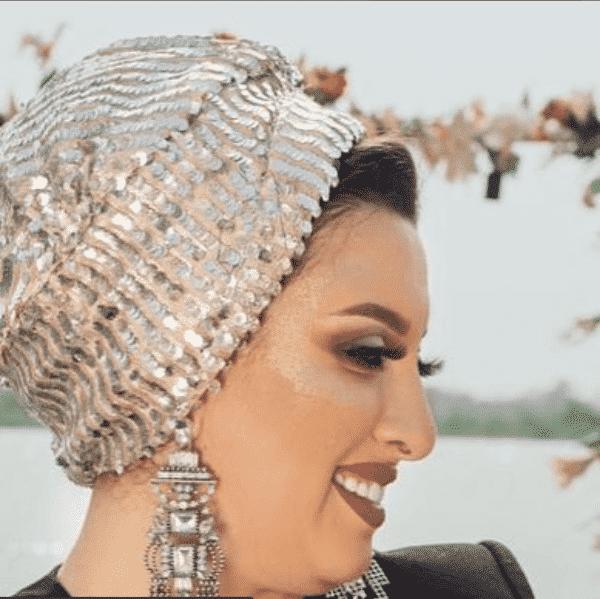 shimmery-sequins-hijab Latest Turban Hijab Styles-29 Ways to Wear Turban Hijab