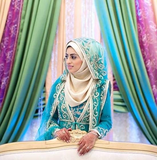 20 Simple Bridal Hijab Tutorials