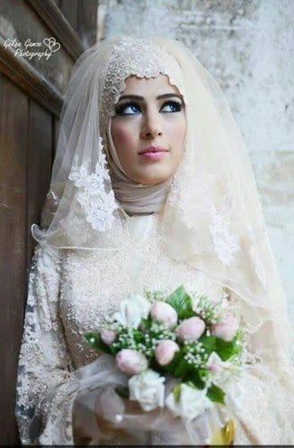 wh14-328x500 Wedding Hijab Styles - 20 Simple Bridal Hijab Tutorials