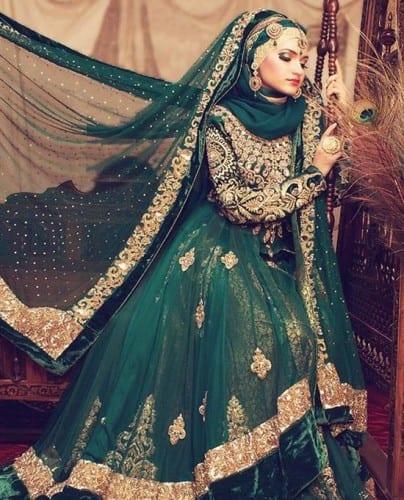 wh211-404x500 Wedding Hijab Styles - 20 Simple Bridal Hijab Tutorials