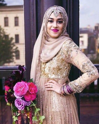 wh81-398x500 Wedding Hijab Styles - 20 Simple Bridal Hijab Tutorials