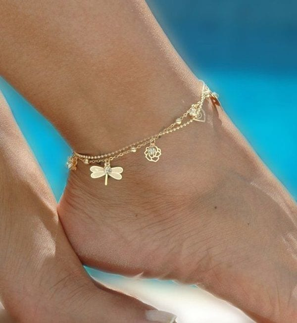 ankle-bracelet-14 24 Latest Ankle chains Fashion and Ideas to Wear Foot Anklets