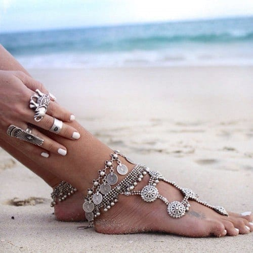 ankle-bracelet-2-500x500 24 Latest Ankle chains Fashion and Ideas to Wear Foot Anklets
