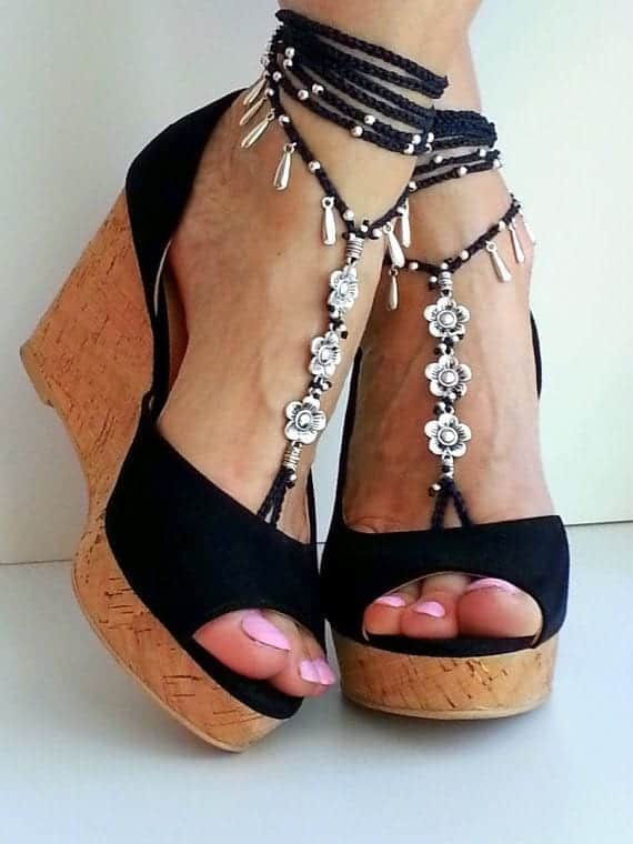 ankle-bracelet-20 24 Latest Ankle chains Fashion and Ideas to Wear Foot Anklets