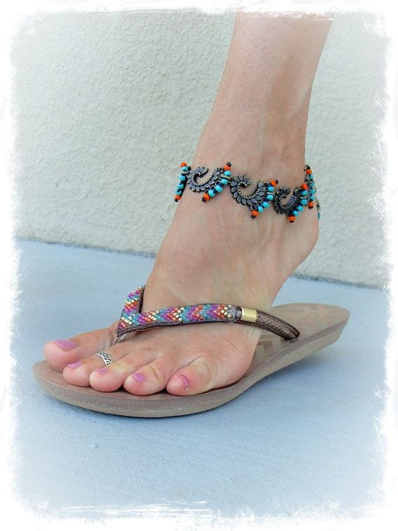 ankle-bracelet-22 24 Latest Ankle chains Fashion and Ideas to Wear Foot Anklets