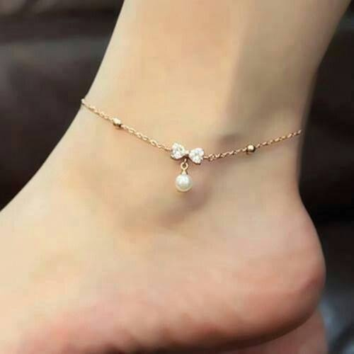 platinum cool anklets anklet product gold store crystals chains foot party women ankle flowers bracelets plated bracelet real sandal jewelry