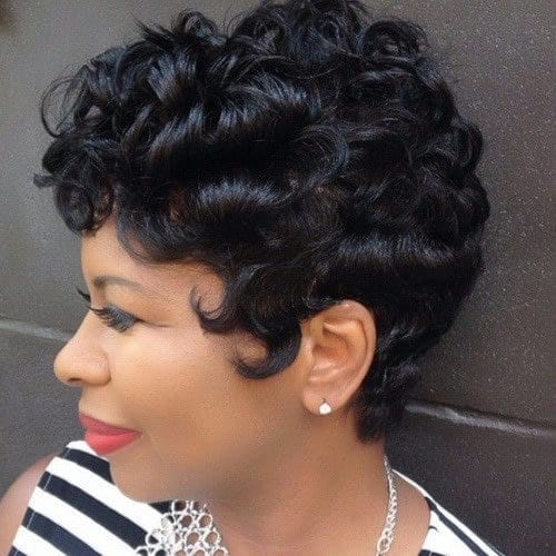 131 25 Cute Short Curly Hairstyles for Black Women These Days