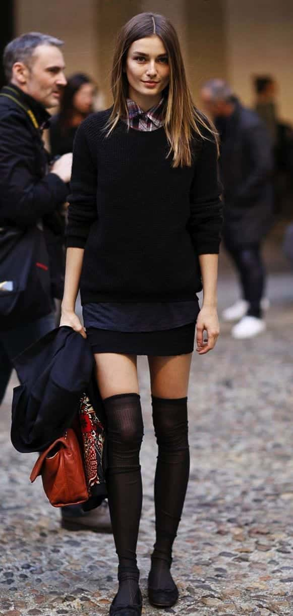 KHS10 Knee High Socks Outfits-23 Cute Ways to wear Knee High Socks