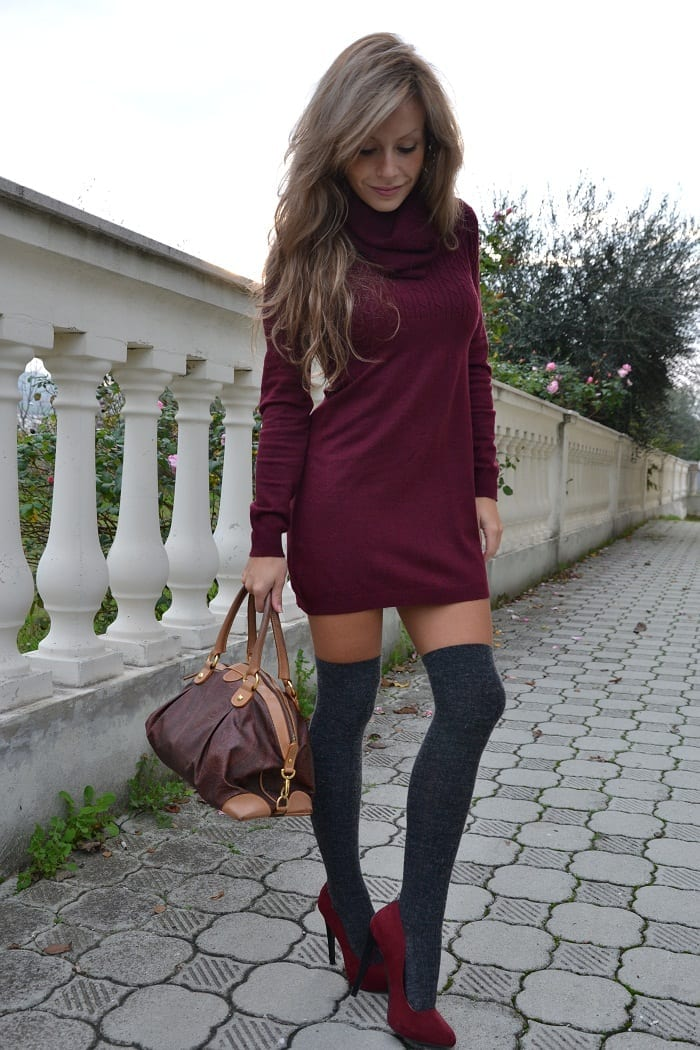 KHS14 Knee High Socks Outfits-23 Cute Ways to wear Knee High Socks