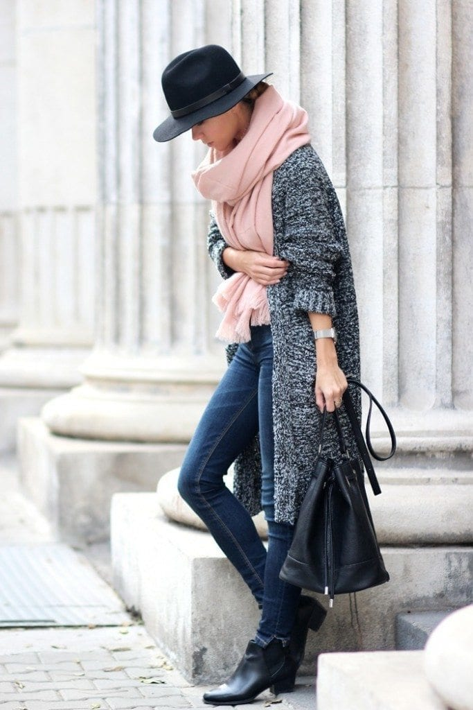 oversize-scarf11-683x1024 How to Wear Over Sized/Blanket Scarf ?18 Outfit Combinations