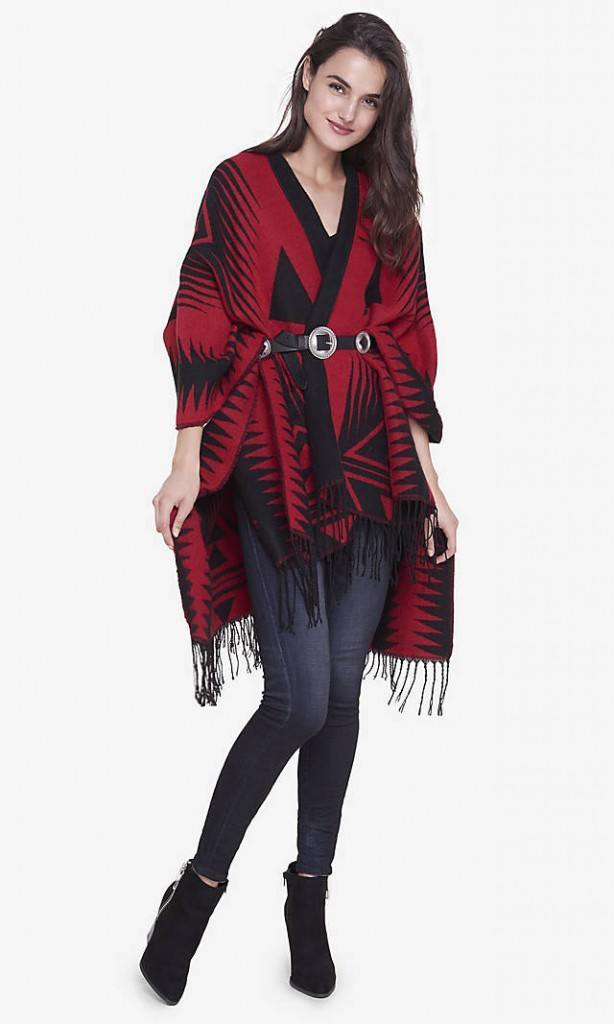 oversize-scarf16-614x1024 How to Wear Over Sized/Blanket Scarf ?18 Outfit Combinations