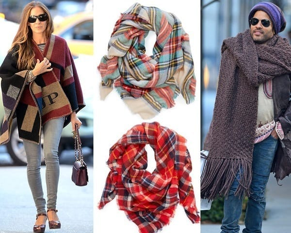oversize-scarf17 How to Wear Over Sized/Blanket Scarf ?18 Outfit Combinations
