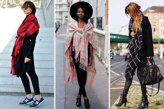 oversize-scarf5 How to Wear Over Sized/Blanket Scarf ?18 Outfit Combinations