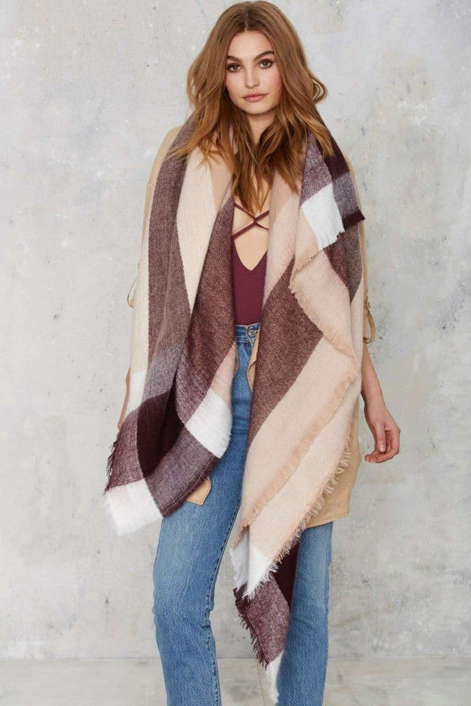 oversize-scarf7-683x1024 How to Wear Over Sized/Blanket Scarf ?18 Outfit Combinations