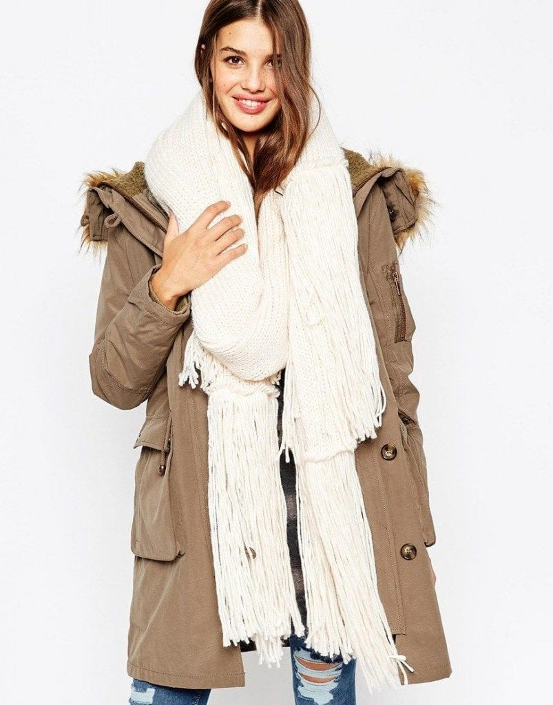 oversize-scarf8-803x1024 How to Wear Over Sized/Blanket Scarf ?18 Outfit Combinations