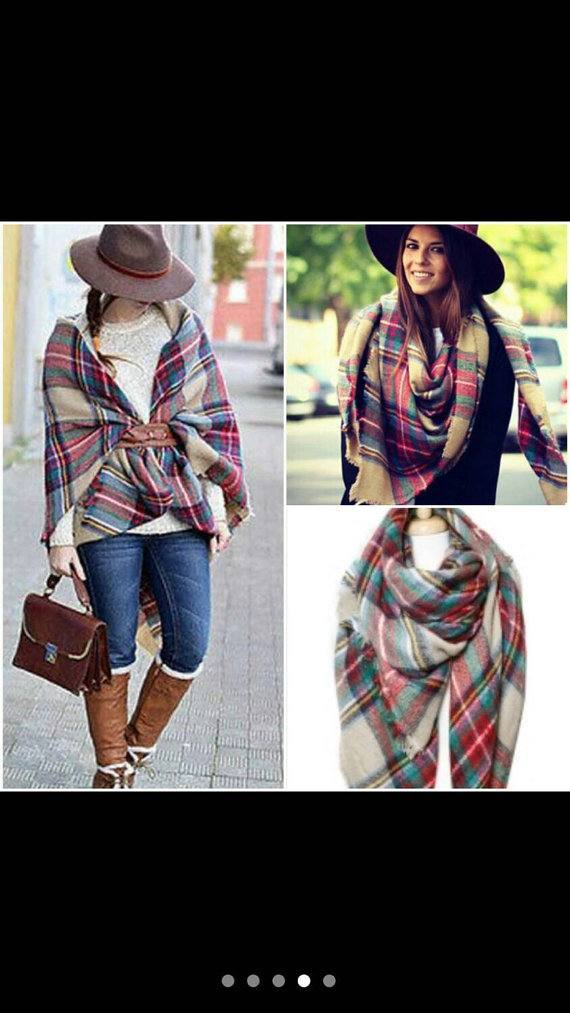 oversize-scarf9 How to Wear Over Sized/Blanket Scarf ?18 Outfit Combinations