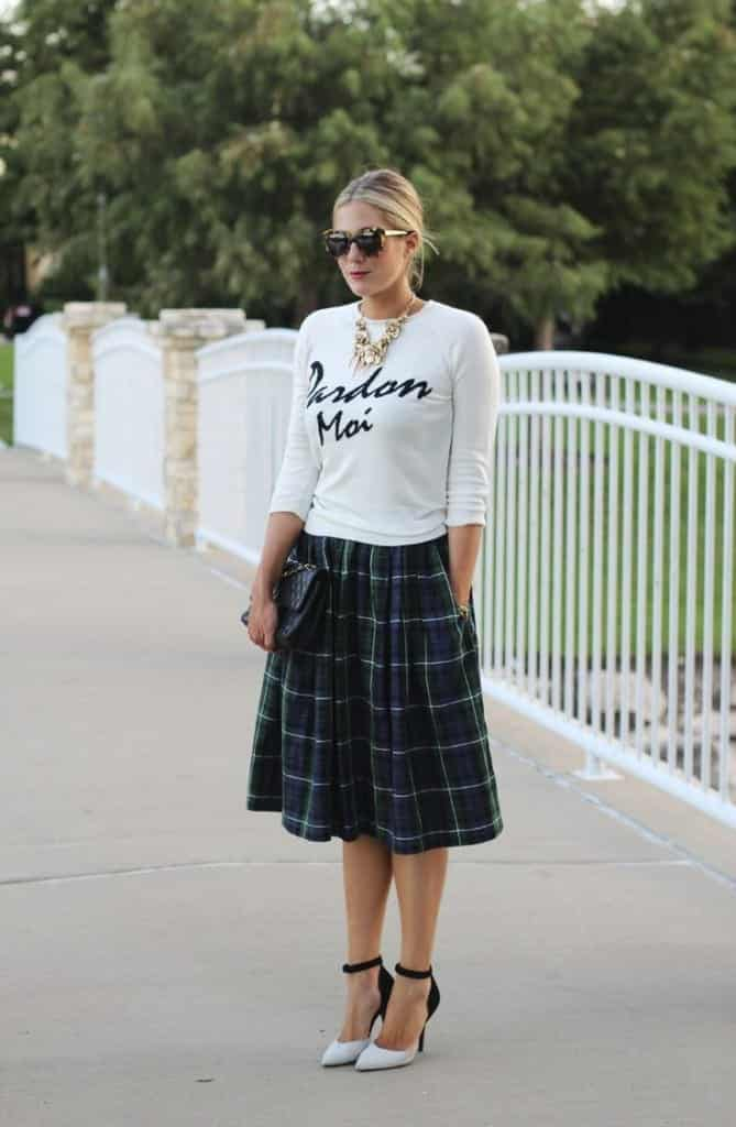 plaid4-669x1024 Girls plaid outfits Ideas-20 Ways to Wear Plaid this Season