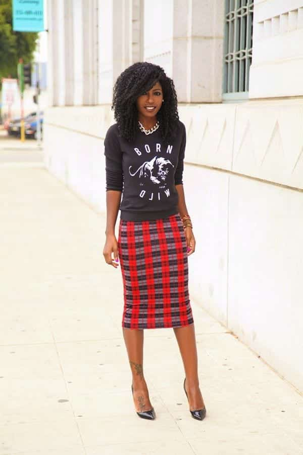 plaid6 Girls plaid outfits Ideas-20 Ways to Wear Plaid this Season