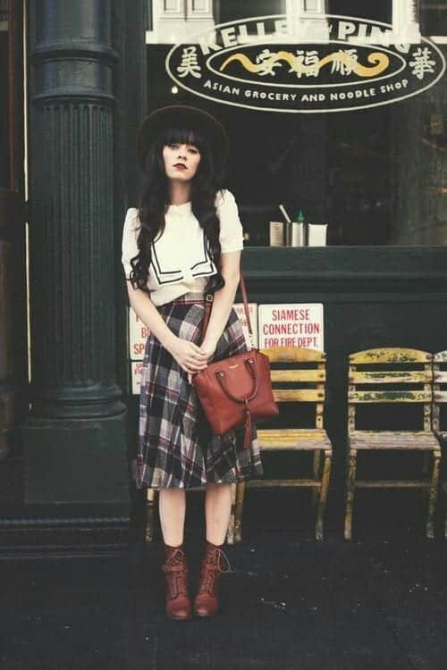 plaid9 Girls plaid outfits Ideas-20 Ways to Wear Plaid this Season