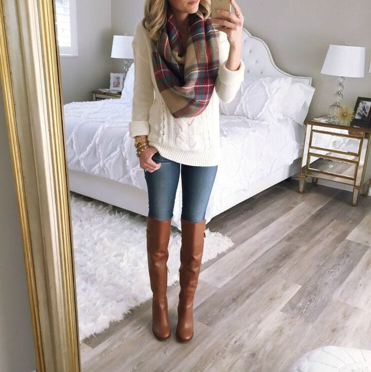 1 Brown Boots Outfits-18 Stylish Ways to Wear Brown Boots