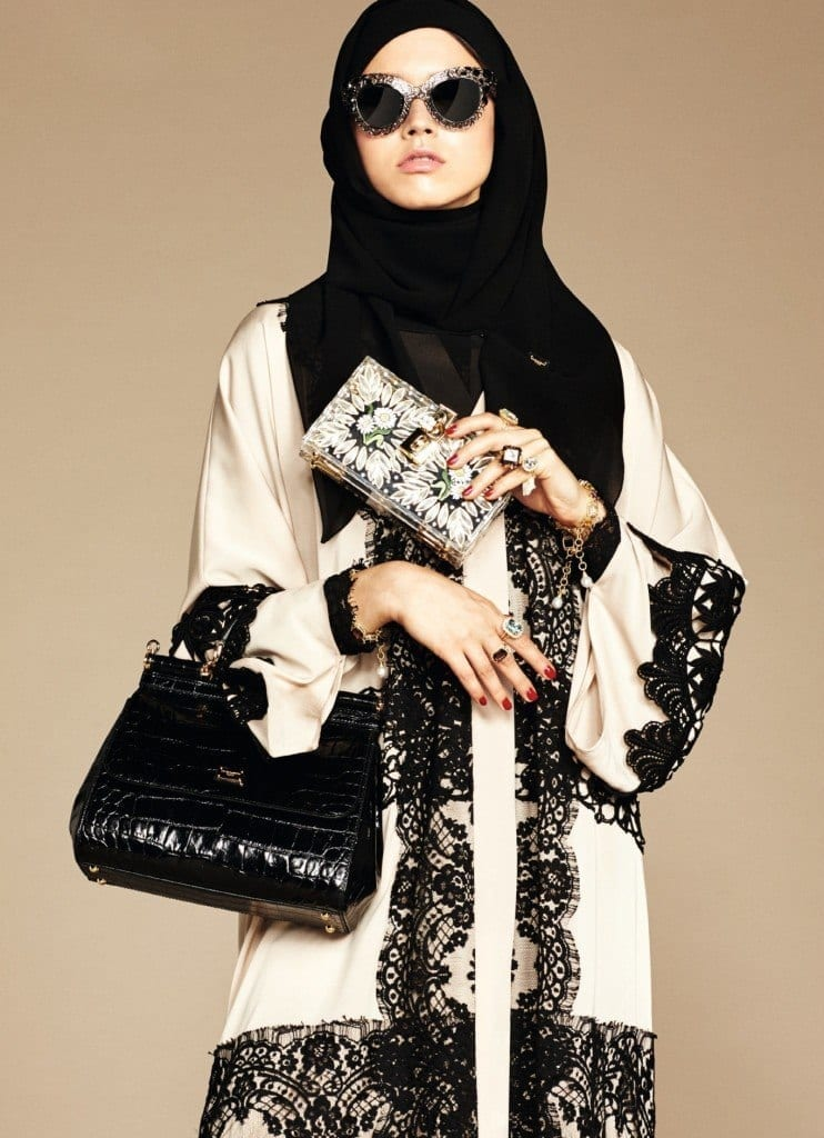 12-exclusive-dolce-gabbana-abaya-line-742x1024 Dolce & Gabbana Hijab and Abaya Collection 2019-Branded Girls