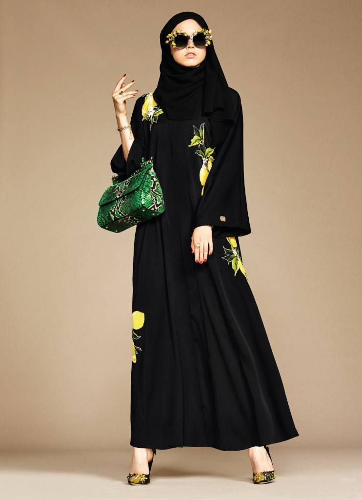 14-exclusive-dolce-gabbana-abaya-line-1-742x1024 Dolce & Gabbana Hijab and Abaya Collection 2019-Branded Girls
