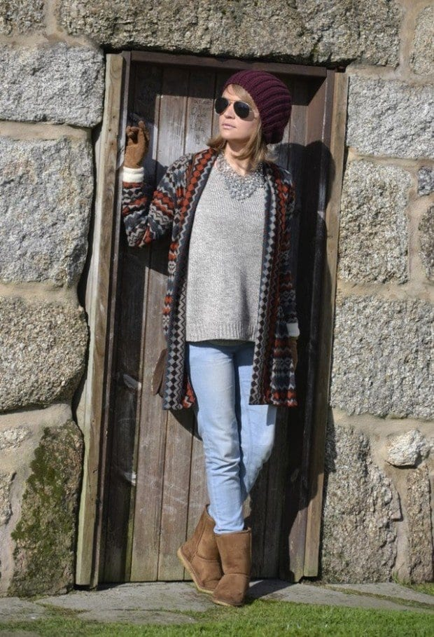 20-Cute-Outfit-Ideas-with-Beanie-13-620x909 Brown Boots Outfits-18 Stylish Ways to Wear Brown Boots