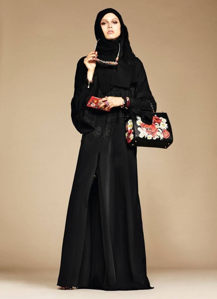 3-exclusive-dolce-gabbana-abaya-line-742x1024 Dolce & Gabbana Hijab and Abaya Collection 2019-Branded Girls