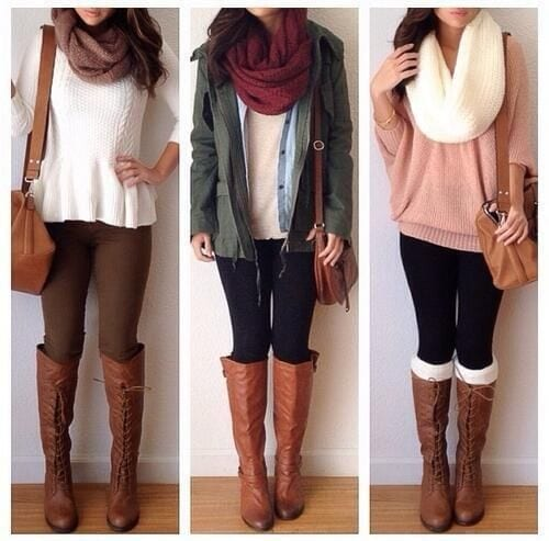 64b2f847a77628f3b8645dae5f51ad08 Brown Boots Outfits-18 Stylish Ways to Wear Brown Boots